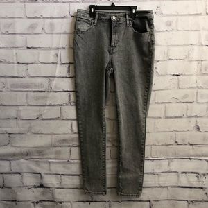 Levi's 721 High Rise grey, stretchy jeans
